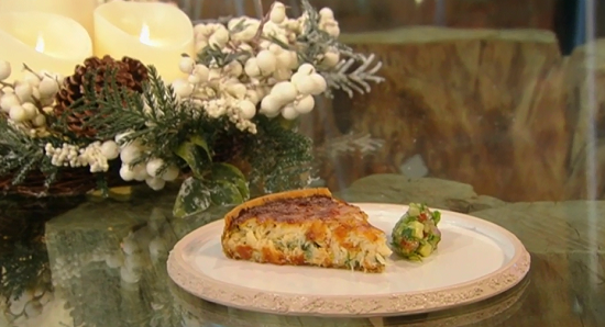 Galton Blackiston's crab tart on Saturday Kitchen