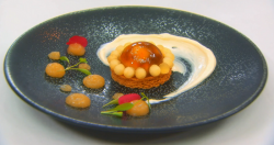 Gary's  apple dome with shortbread biscuit dessert on MasterChef: The Professionals