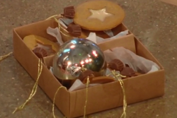 Frances Quinn's gingerbread baubles biscuits on Christmas kitchen