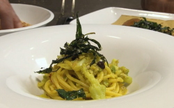 Broccoli with pasta dish on Rick Stein's Long Weekends