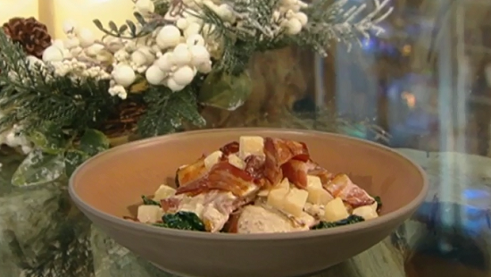 Theo's pheasant wrapped in pancetta stuffed with milk and celeriac dish on Saturday Kitchen