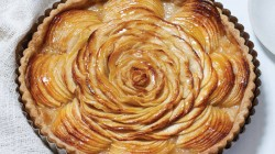 Sara Moulton's French Apple Tart dessert on The Rachael Ray Show