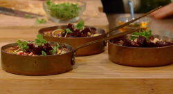 Yotam's savoury blue cheesecake with honey on Saturday Kitchen