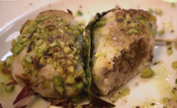 Stuffed swordfish coated with pistachios on Rick Stein's Long Weekends