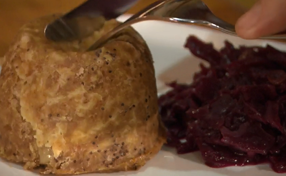 Christmas vegetarian pie with chestnut and suet on Rick Stein's Cornish Christmas