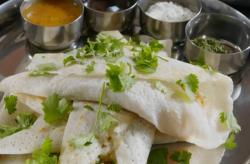 Sanjay's masala dosa dish on The Hairy Bikers' Comfort Food