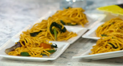 Rebecca Seal's fish pasta on Sunday Brunch New Year Special