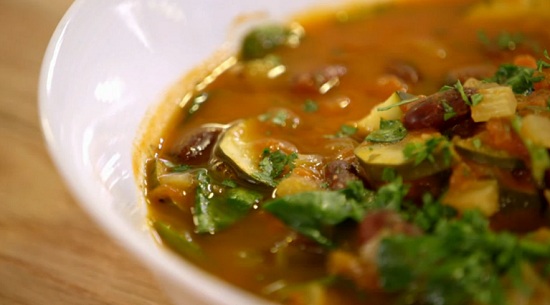 Stacie Stewart's  minestrone soup for the omni diet on How to Lose Weight Well