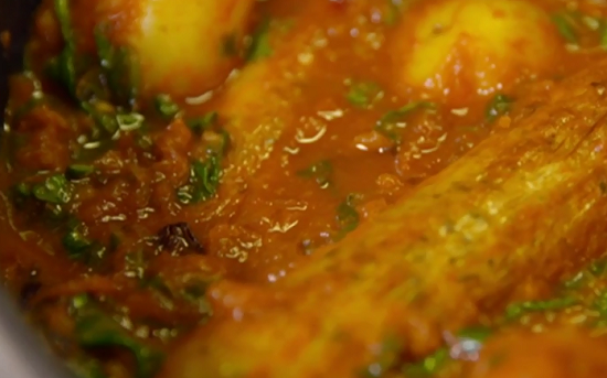 Meera's Lincolnshire sausage and potato curry on The Hairy Bikers Comfort Food