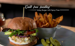 Turkey Burgers with spicy fries on The Hairy Bikers Comfort Food