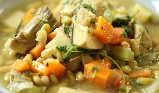 Nigel Slater herby artichoke casserole on Nigel Slater's Dish of the Day