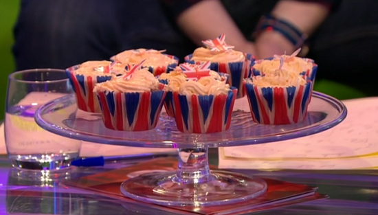 Cupcakes decorated by the Duchess of Cornwall and Jamie Oliver on The One Show