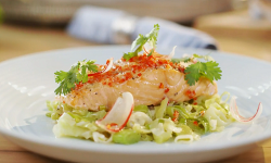 Mary Berry yuzu salmon with ginger and chilli dressing recipe on Mary Berry Everyday
