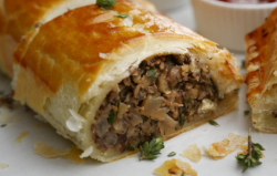 Simon Rimmer Truffle Mushroom and Cranberry Sausage Rolls on Sunday Brunch