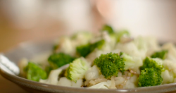 Mary Berry broccoli and cauliflower stir fry with shallots and garlic on Mary Berry Everyday