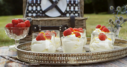 Mary Berry Scots whisky cream  with raspberries and orange zest dessert on Mary Berry Everyday