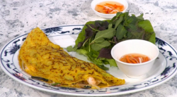 Vietnamese Pancakes with sweet chillie dipping sauce by Rebecca Seal on Sunday Brunch