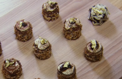 Hilal and Jevdet's Turkish mini figs, almond and amaretto gateaux on Chopping Block