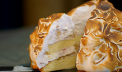 Michel Roux peanut butter and jelly baked Alaska on Hidden Restaurants