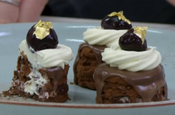 John Whaite mini black forest gateaux on Chopping Block