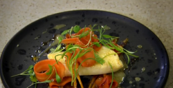 Glynn Purnell brill with toffee and cumin carrots on The Secret Chef