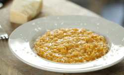 Nigel Slater's butternut squash risotto using leftover soup on Dish of the Day