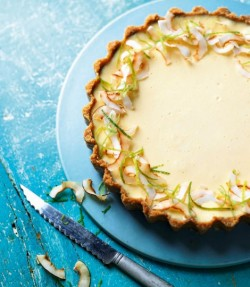 Lime and coconut tart