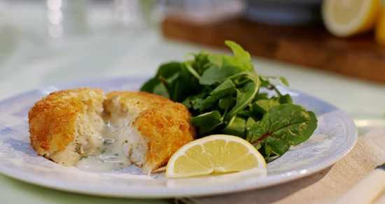 Very fancy fish cakes on Mary Berry Everyday