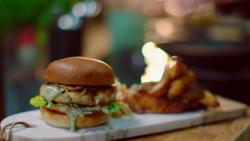 Michel Roux Jr fish burger with mackerel and plaice on Hidden Restaurants