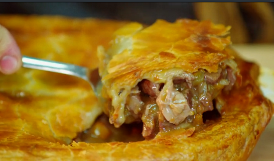 Goat meat pie on Hidden Restaurants with Michel Roux Jr