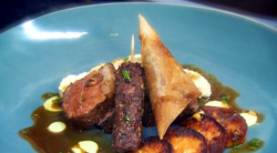 Paul Merrett  and lucy's lamb lovers feast dish on The Secret Chef