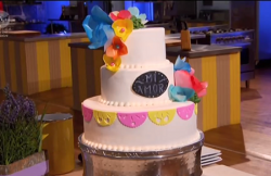 Dan's Mexican vanilla butter cake on Spring Baking Championships