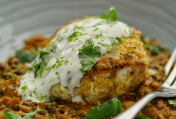 Simon Rimmer's Black Dhal with Monkfish dish on Sunday Brunch