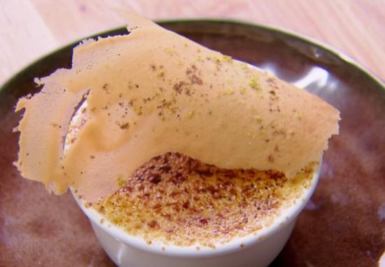 John Whaite's mango and white chocolate brulee mousse on Chopping Block
