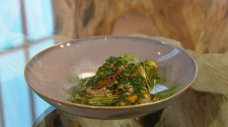 Nigel Haworth January King cabbage with mussels and cockles fondue on Saturday Kitchen