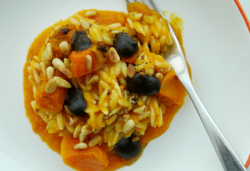 Simon Rimmer Orzo with Squash and Olive Caramel on Sunday Brunch