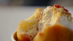 Jackson's doughnut with peanut butter and jelly ice cream on Hidden Restaurants with Miche ...