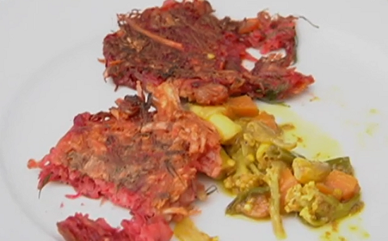 Nigel Slater beetroot and potato fritters recipe on Saturday Kitchen