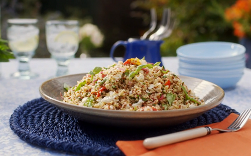 Mary Berry herbed quinoa and bulgur wheat salad lemon and pomegranate