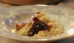 Mary's classic rice pudding with jam on Mary Berry Everyday
