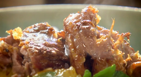 Nigel Slater roast crispy duck with spicy citrus salad on Saturday Kitchen