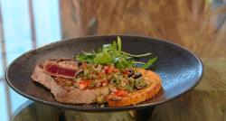 Donal's tuna steak with tomato salsa on Saturday Kitchen