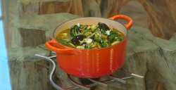 Paul Ainsworth Tuscan soup with bacon on Saturday Kitchen