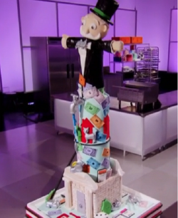 Miguel Lomeli's monopoly cake on Cake Wars
