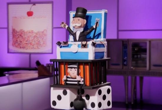Lilian Halabi's monopoly cake on Cake Wars