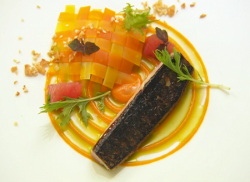 Steve Groves Cornish mackerel with carrots and a citrus dressing dish cooked by Imran on Masterc ...