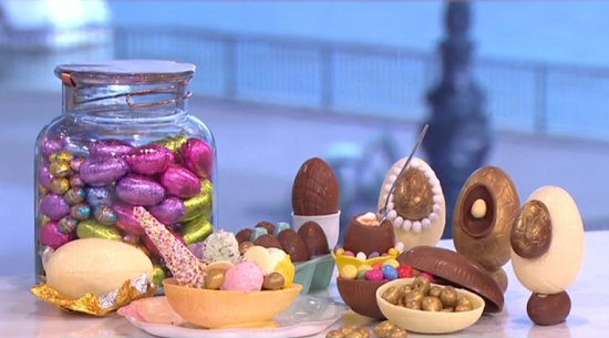 Paul A Young fondant eggs on This Morning how to make your own Easter eggs