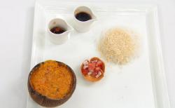 Visha's fish curry with rice dish on MasterChef 2017 UK