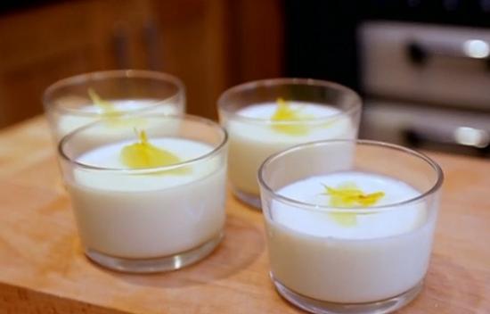 Matt Tebbutt's  lemon possett on Save Money: Good Food