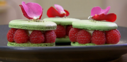 John Whaite pandan macarons on Chopping Block